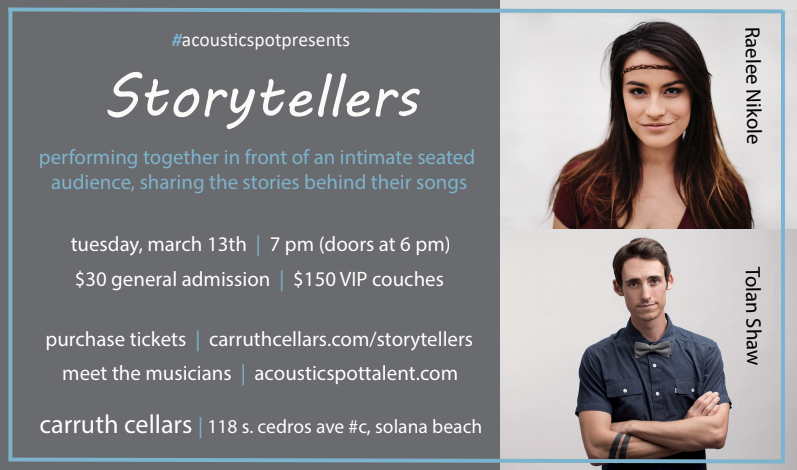 Acoustic spot story tellers